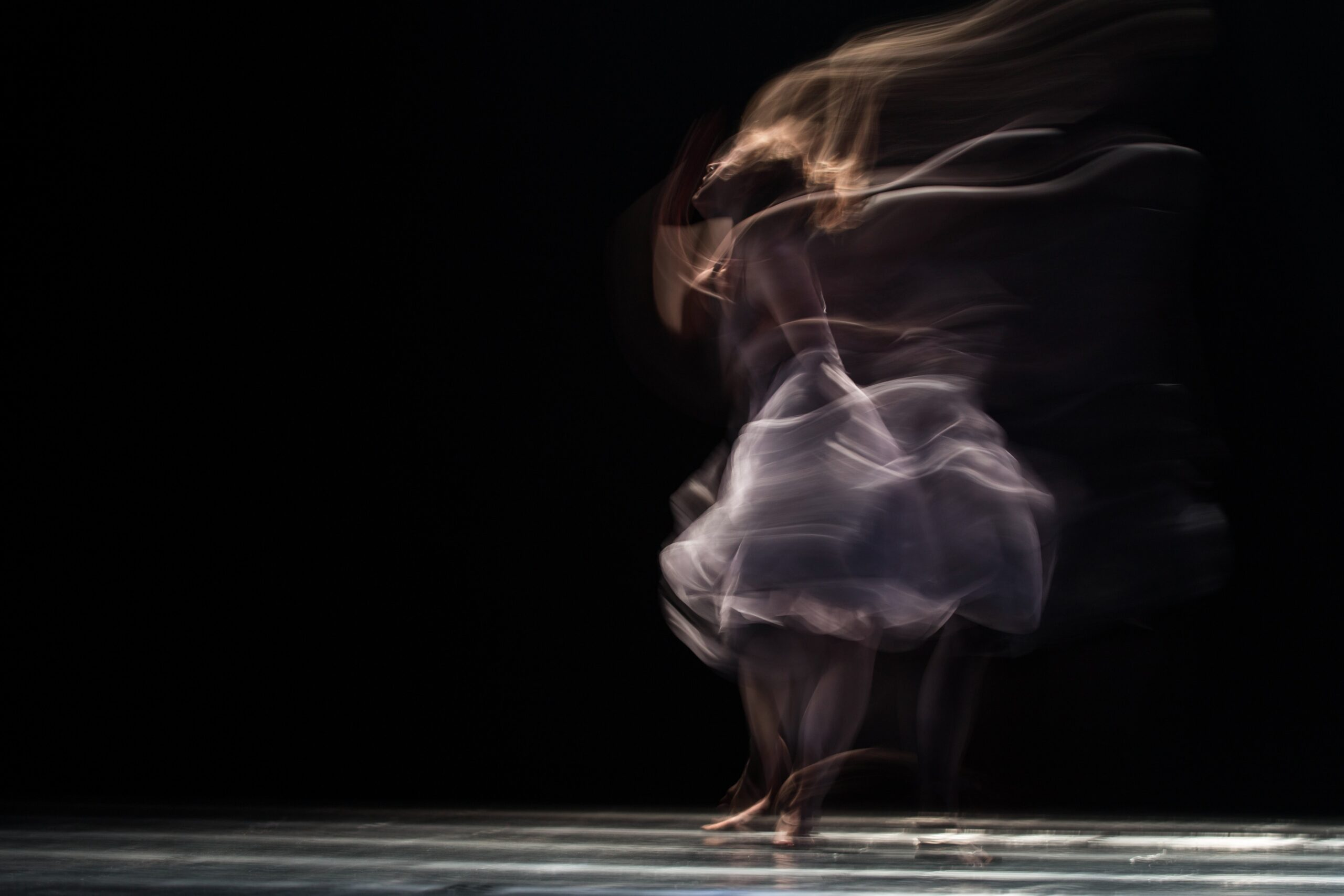 Dancer twirling