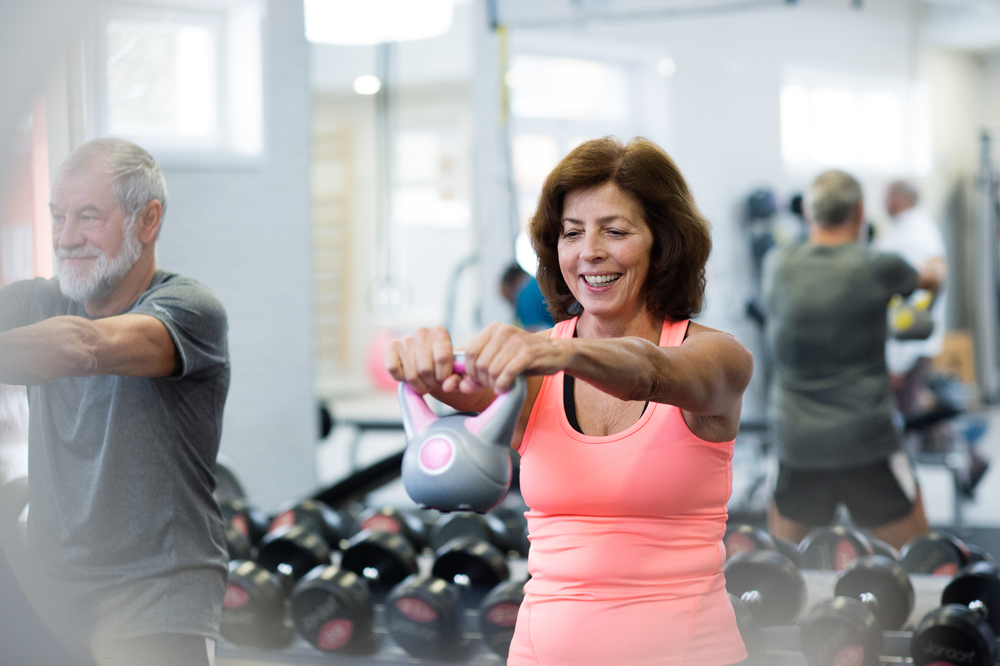 choose the right workout for you, seniors working out at any age